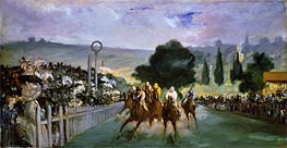 The Races at Longchamp | Manet | Gemälde Reproduktion