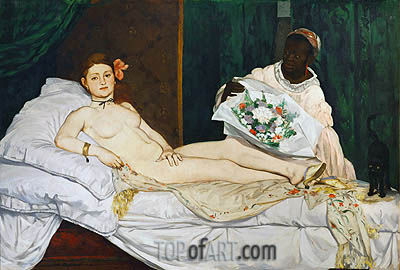 Olympia, 1863 | Manet | Painting Reproduction
