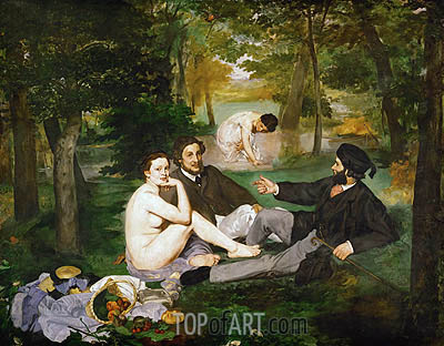 The Lunch on the Grass, 1863 | Manet | Painting Reproduction