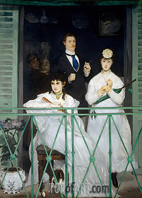 The Balcony, c.1868/69 | Manet | Gemälde Reproduktion