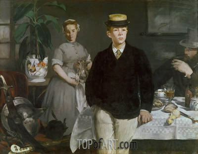 The Luncheon in the Studio, 1868 | Manet | Painting Reproduction