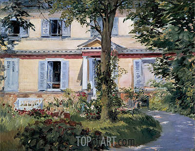 The House at Rueil, 1882 | Manet | Gemälde Reproduktion