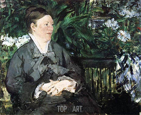 Madame Manet in the Conservatory, 1879 | Manet | Painting Reproduction