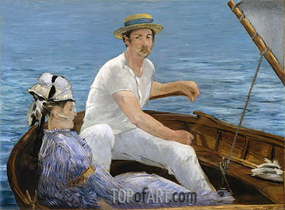 Boating, 1874 | Manet | Gemälde Reproduktion
