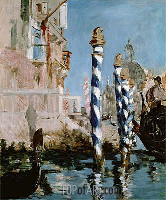 The Grand Canal, Venice, 1874 | Manet | Gemälde Reproduktion