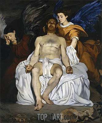 The Dead Christ and the Angels, 1864 | Manet | Gemälde Reproduktion