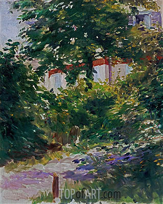 A Corner of the Garden in Rueil, 1882 | Manet | Painting Reproduction
