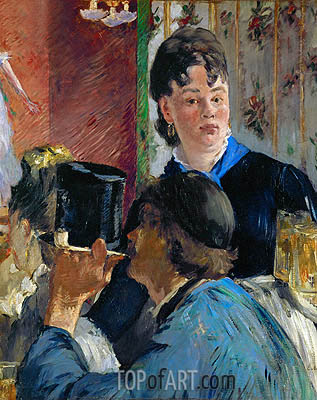 Beer Drinking (The Waitress), c.1878/79 | Manet | Gemälde Reproduktion