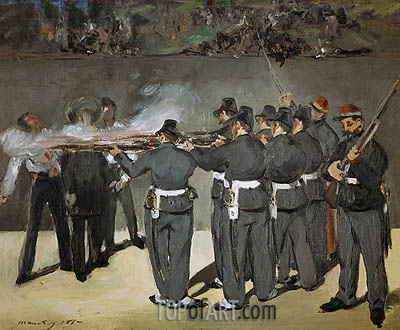 The Execution of the Emperor Maximilian, 1867 | Manet | Painting Reproduction