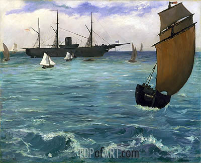 The 'Kearsarge' at Boulogne, 1864 | Manet | Gemälde Reproduktion