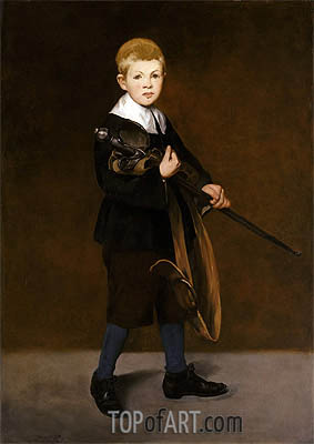 Boy with a Sword, 1861 | Manet | Gemälde Reproduktion