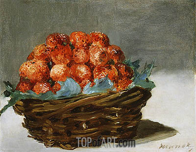 Strawberries, c.1882 | Manet | Gemälde Reproduktion