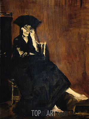 Berthe Morisot with a Fan, 1872 | Manet | Painting Reproduction