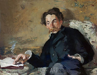 Stephane Mallarme, 1876 | Manet | Painting Reproduction