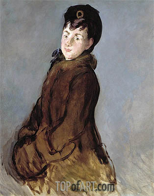 Portrait of Isabelle Lemonnier, c.1879 | Manet | Painting Reproduction