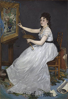 Eva Gonzales, 1870 | Manet | Painting Reproduction