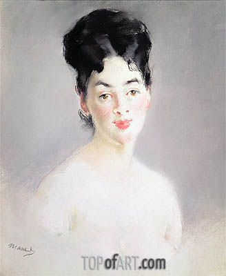 Bust of a Young Female Nude, c.1875 | Manet | Painting Reproduction