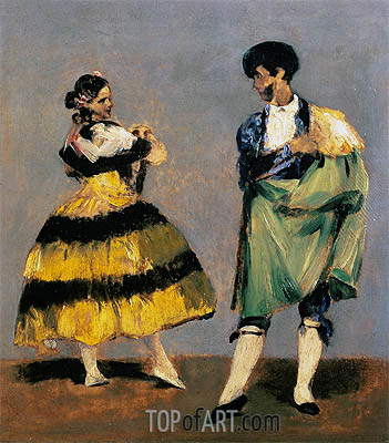 Spanish Dancers, 1879 | Manet | Gemälde Reproduktion