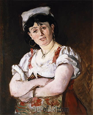 The Italian, 1860 | Manet | Gemälde Reproduktion