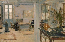 In a Room, 1899 by Vuillard | Painting Reproduction
