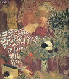 Woman in a Striped Dress, 1895 by Vuillard | Painting Reproduction