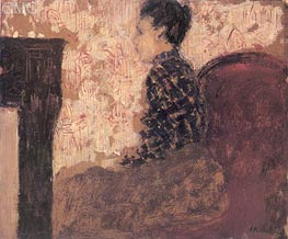 Woman Sitting by the Fireside, c.1894 by Vuillard | Painting Reproduction
