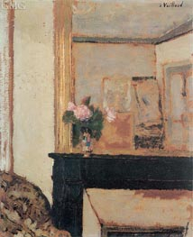 Vase of Flowers on a Mantelpiece, c.1900 by Vuillard | Painting Reproduction