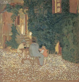 Repast in a Garden, 1898 by Vuillard | Painting Reproduction