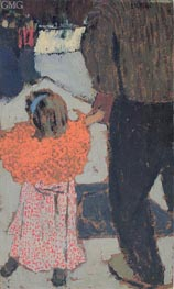 Child Wearing a Red Scarf, c.1891 by Vuillard | Painting Reproduction