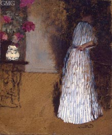 Young Woman in a Room, c.1892/93 by Vuillard | Painting Reproduction