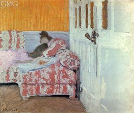 On the Sofa, White Room, c.1890/93 by Vuillard | Painting Reproduction