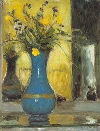 Le Vase Bleu | Vuillard | Painting Reproduction