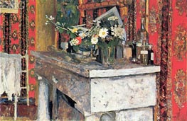 The Mantelpiece (La Cheminee), 1905 by Vuillard | Painting Reproduction