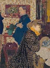 Misia and Vallotton in Villeneuve, 1899 by Vuillard | Painting Reproduction
