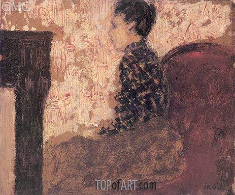Woman Sitting by the Fireside, c.1894 | Vuillard | Gemälde Reproduktion