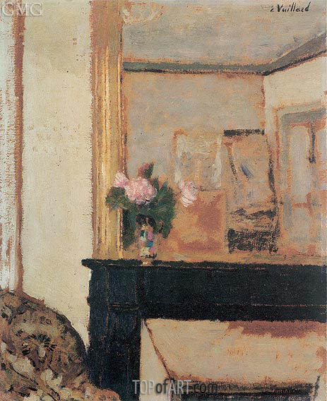 Vase of Flowers on a Mantelpiece, c.1900 | Vuillard | Gemälde Reproduktion