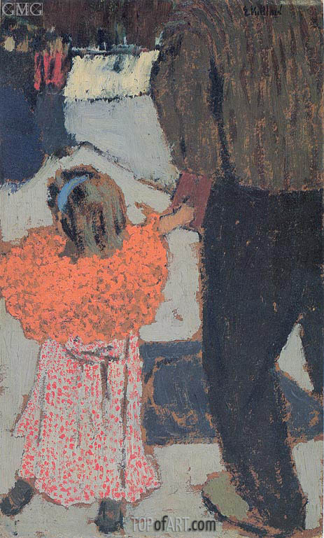 Child Wearing a Red Scarf, c.1891 | Vuillard | Painting Reproduction