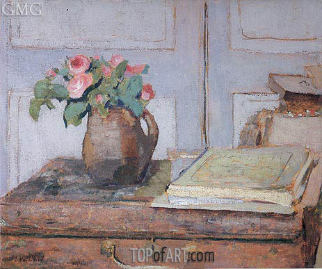 The Artist's Paint Box and Moss Roses, 1898 | Vuillard | Painting Reproduction