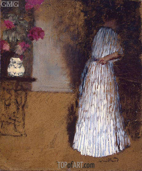 Young Woman in a Room, c.1892/93 | Vuillard | Painting Reproduction