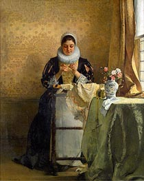 The Lace Maker | Eduard Charlemont | Painting Reproduction