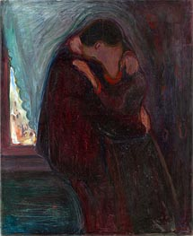 The Kiss, 1897 by Edvard Munch | Painting Reproduction