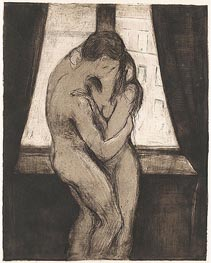 The Kiss, 1895 by Edvard Munch | Painting Reproduction