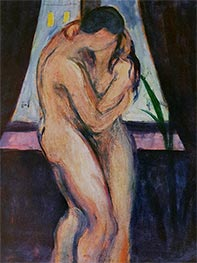 The Kiss, c.1896/97 by Edvard Munch | Painting Reproduction
