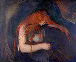 Vampire, 1895 by Edvard Munch | Painting Reproduction