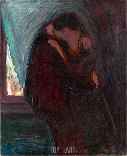 The Kiss, 1897 | Edvard Munch | Painting Reproduction