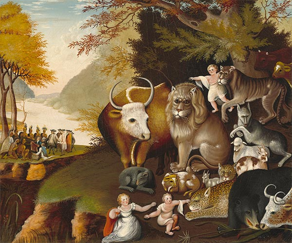 Peaceable Kingdom, c.1834 | Edward Hicks | Painting Reproduction