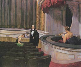 Two on the Aisle | Hopper | Painting Reproduction