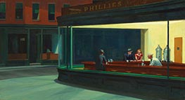 Nighthawks, 1942 by Hopper | Painting Reproduction