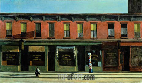 Early Sunday Morning, 1930 | Hopper | Painting Reproduction
