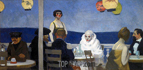 Soir Bleu, 1914 | Hopper | Painting Reproduction